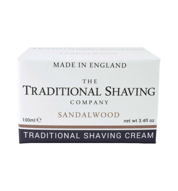 The Traditional Shaving Company Sandalwood Shaving Cream, 100ml, Imported