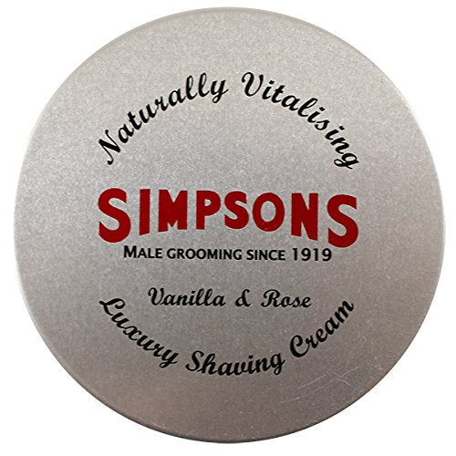 Vanilla + Rose Shaving Cream 4.2oz shaving cream by Simpsons