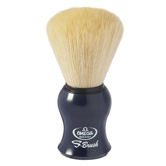 Omega S-Brush Synthetic Fiber Shaving Brush - [Navy] S10065