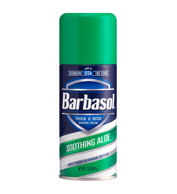 Barbasol - Soothing Aloe Thick & Rich Shaving Cream - 7 Ounces