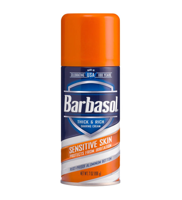 Barbasol - Sensitive Skin Thick & Rich Shaving Cream - 7 Ounces