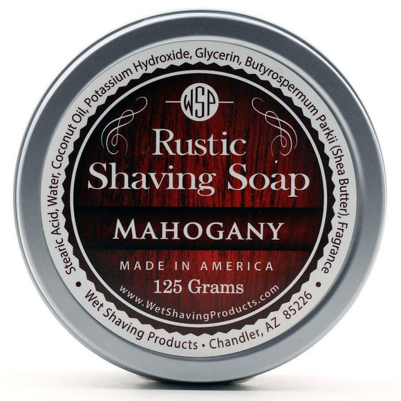 Wet Shaving Products Rustic Shaving Soap - Mahogany -