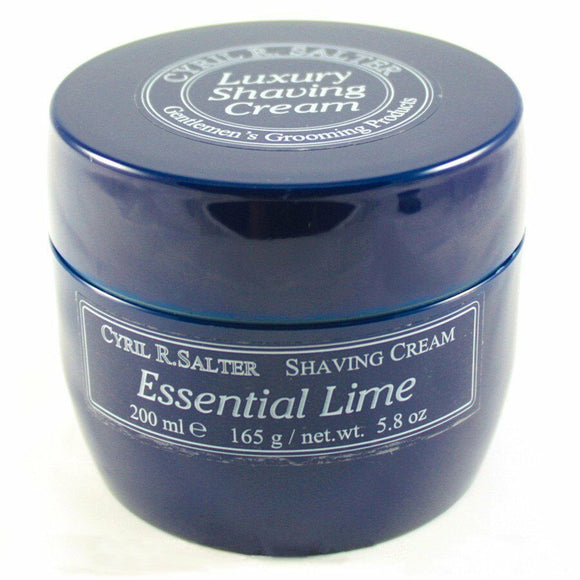 Cyril R Salter Essential Lime Luxury Shaving Cream Tub 165g