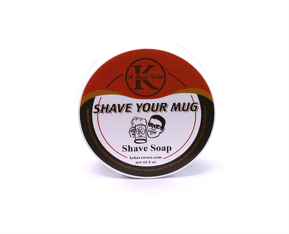 K Shave Worx - Shave Your Mug - Shave Soap, 6 oz