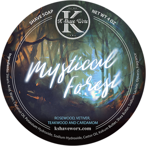 K Shave Worx - Mystical Forest  - Shave Soap, 4 oz