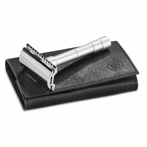 Merkur Solingen 46C Double Edge Safety Razor w/ Leather Case