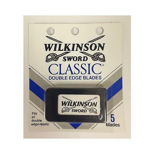 25 Wilkinson Sword CLASSIC Double Edge Razor Blades - 5 packs of 5