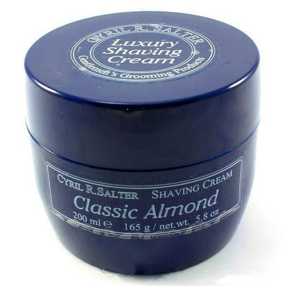 Cyril R Salter Classic Almond Luxury Shaving Cream Tub 165g