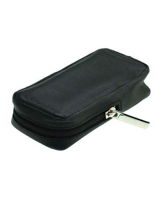 Merkur Zippered Leather Case for Safety Razors