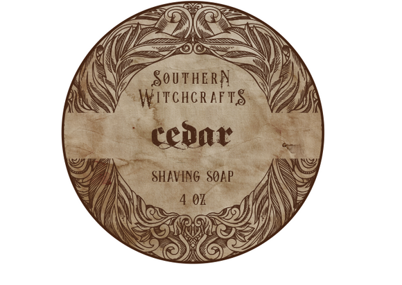 Southern Witchcrafts Shave Soap - Cedar - Vegan