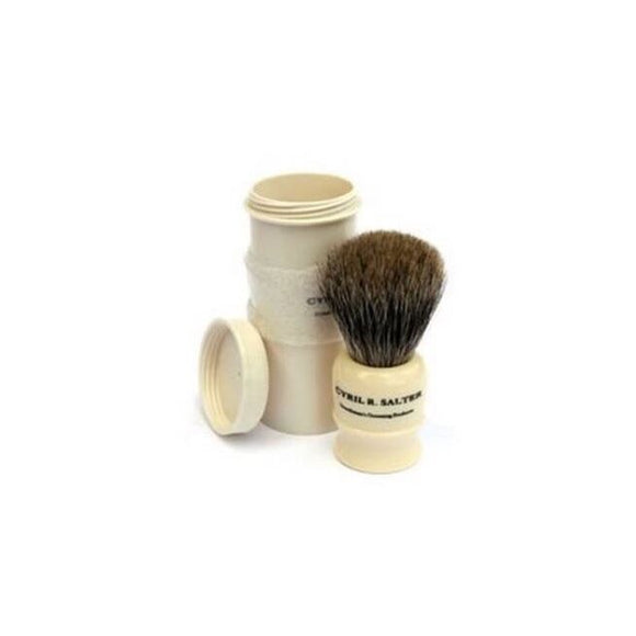 Cyril Salter Pure Badger Travel Shaving Brush w/ Travel Case