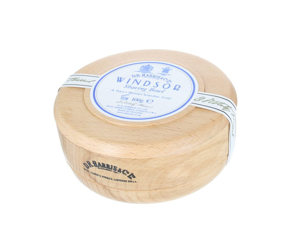 D.R. Harris Windsor Shaving Soap - With Beech Bowl