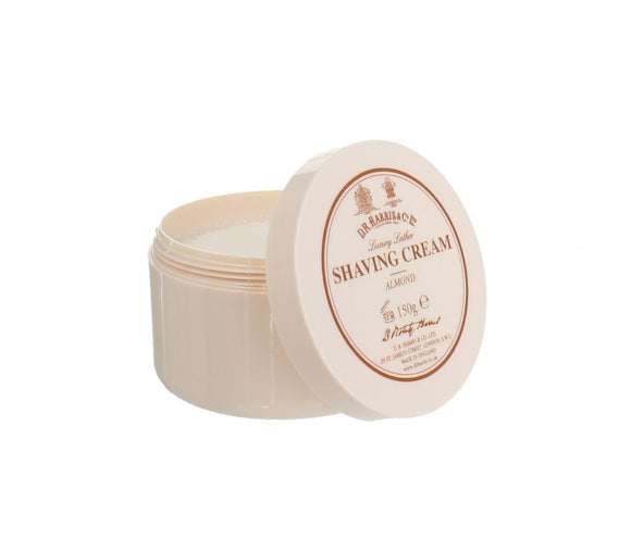 D.R. Harris & Co Almond Luxury Shaving Cream Tub 150g