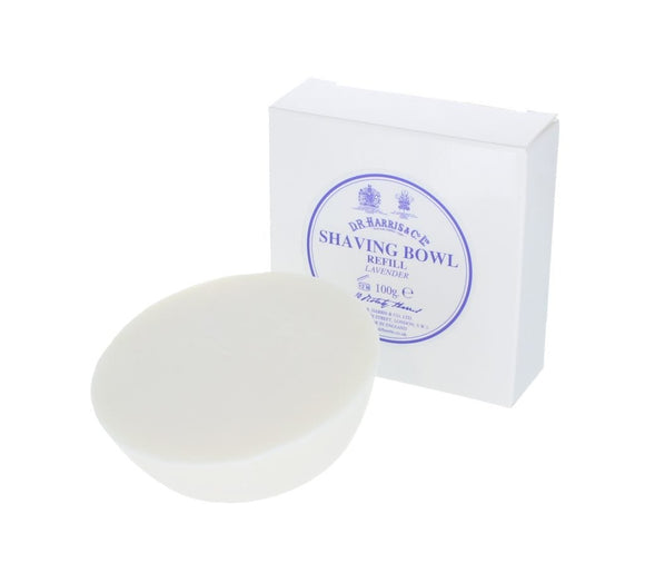 This solid Lavender shaving soap is of the finest quality and has been triple-milled to increase the richness and luxuriousness of the lather. This refill fits our beech and mahogany bowls or the porcelain shaving bowls. Incredibly economical, each soap will last for several months.