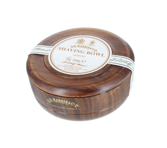 D.R. Harris Almond Shaving Soap - With Mahogany Bowl