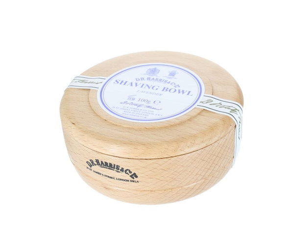 D.R. Harris Lavender Shaving Soap - With Beech Bowl