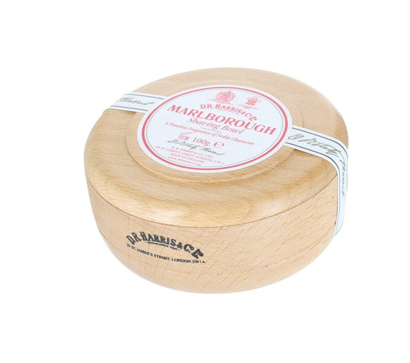 D.R. Harris Marlborough Shaving Soap - With Beech Bowl