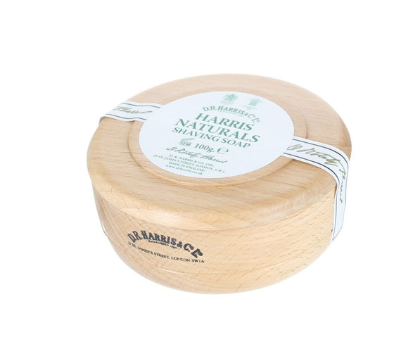 D.R. Harris Naturals Shaving Soap - With Beech Bowl