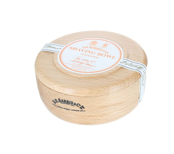 D.R. Harris Sandalwood Shaving Soap - With Beech Bowl