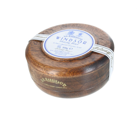 D.R. Harris Windsor Shaving Soap - With Mahogany Bowl