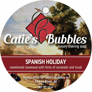Catie's Bubbles - Spanish Holiday - Luxury Shaving Soap 4oz