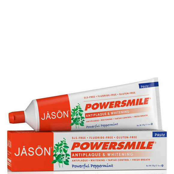Jason Powersmile Antiplaque - Whitening Toothpaste, Powerful Peppermint 6 oz