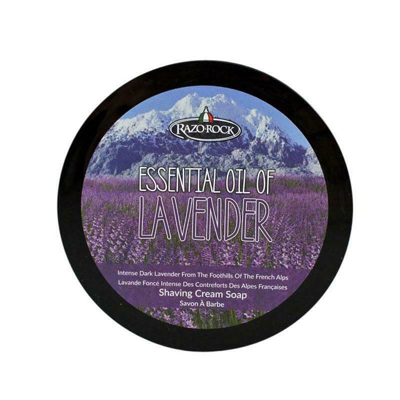 RazoRock Essential Oil of Lavender Italian Shaving Soap