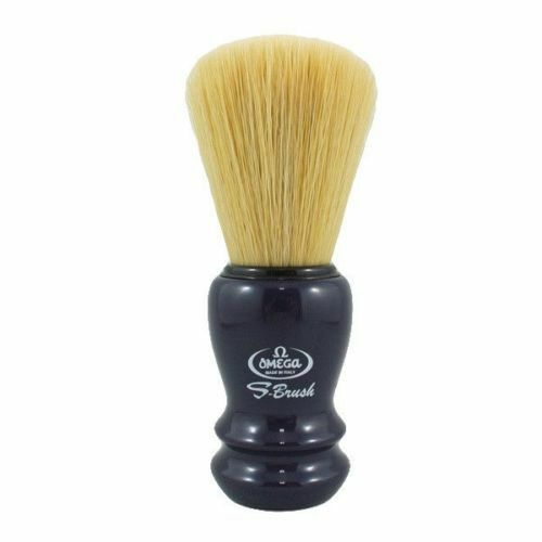 Omega S-Brush Pro Synthetic Fiber Shaving Brush - Blue S10108