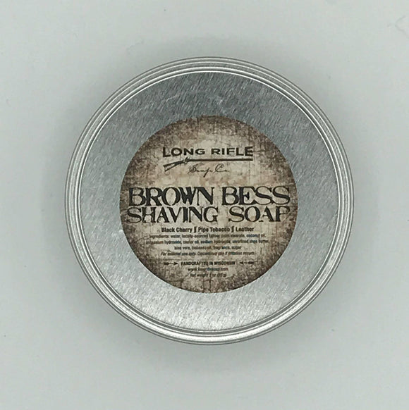 Long Rifle Soap Co. Shaving Soap, Brown Bess 3 oz Puck