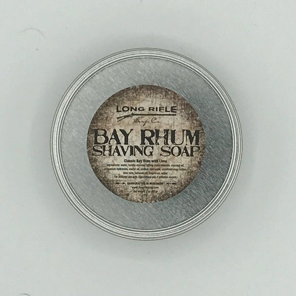 Long Rifle Soap Co. Shaving Soap, Bay Rhum 3 oz Puck