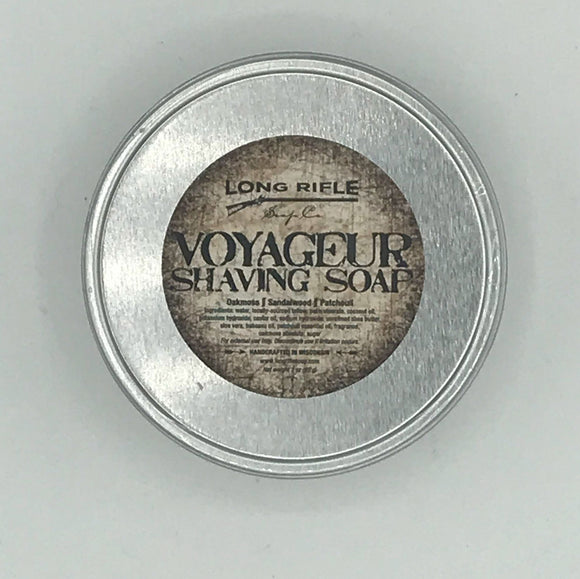 Long Rifle Soap Co. Shaving Soap, Voyageur 3 oz Puck
