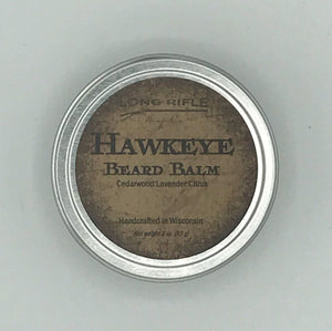 Hawkeye Beard Balm  Citrus combined with cedarwood and lavender give your spirit a lift while our beard balm tames your beard. Look groomed on the outside, be wild on the inside.