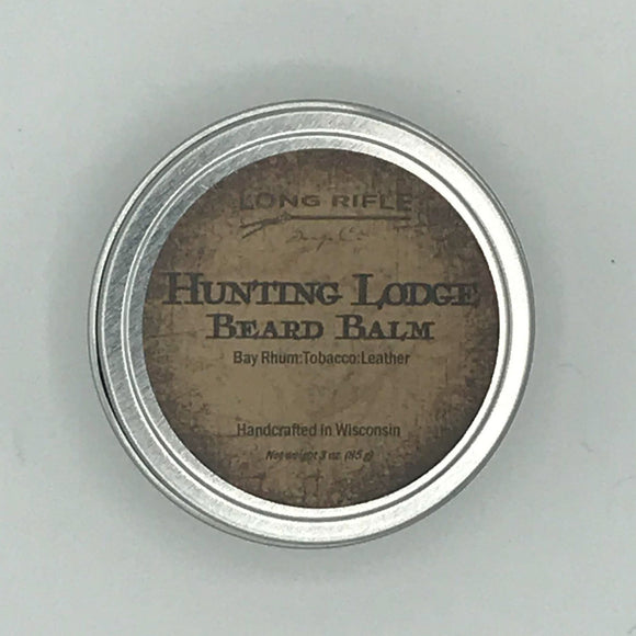 Hunting Lodge Beard Balm  Bay rum, tobacco and leather combine into our number one selling scent. Use this beard balm, you'll be looking and feeling like you're number one.