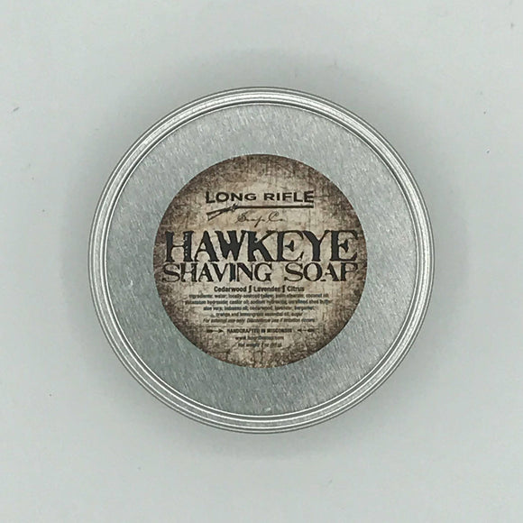 Long Rifle Soap Co. Shaving Soap, Hawkeye 3 oz Puck