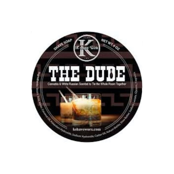 K Shave Worx - The Dude  - Shave Soap, 4 oz