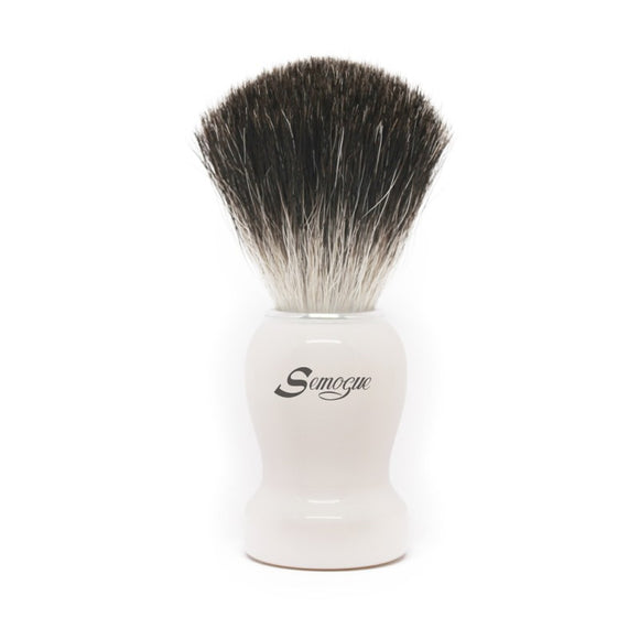 Semogue Pharos-C3 Pure Black Badger Shaving Brush - Arctic White