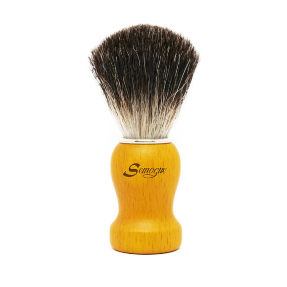 Semogue Pharos-C3 Pure Black Badger Shaving Brush - Yellow