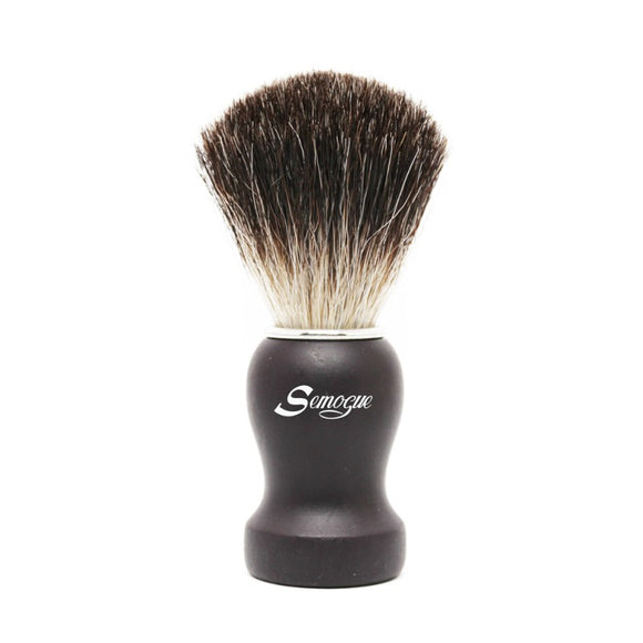 Semogue Pharos-C3 Pure Grey Badger Shaving Brush - Black