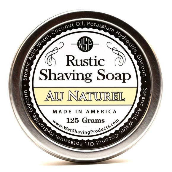 Wet Shaving Products Rustic Shaving Soap - Au Naturel -