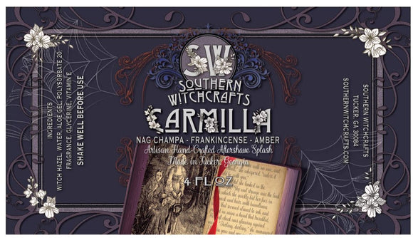 Southern Witchcrafts Aftershave Splash - Carmilla