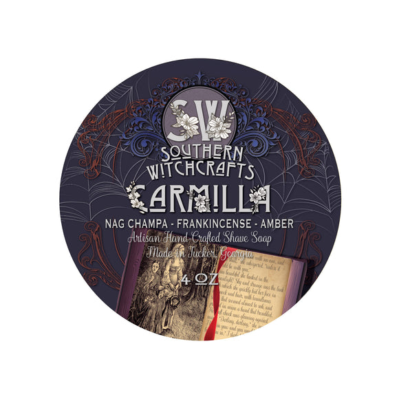 Carmilla is tribute to one of the first ever vampire stories: the scent of a cloying and seductive temptress centered around Nag Champa, Amber, Sandalwood, and Frankincense.
