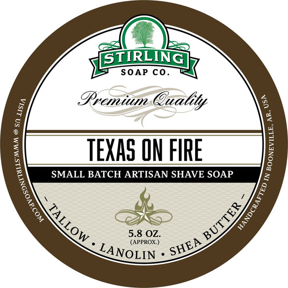 Stirling Soap Company - Shave Soap - Texas on Fire