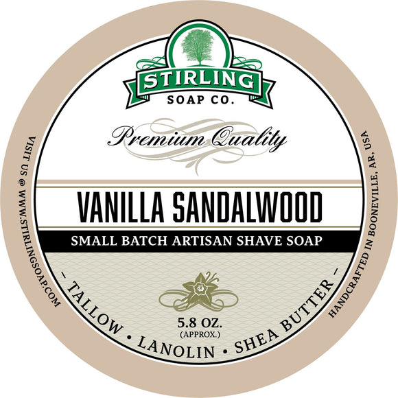 Stirling Soap Company - Shave Soap - Vanilla Sandalwood