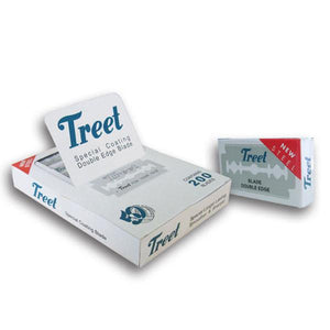 100 Treet New Steel Double Edge Blades, 10 Packs Of 10 Blades