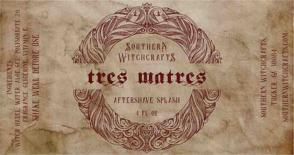 Southern Witchcrafts Aftershave Splash - Tres Matres