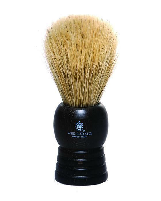 Vie-Long Premium Horse & Badger Hair Blend Shaving Brush, Black Wood Handle 14095
