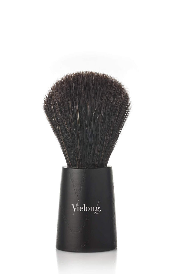 Vie-Long Nordik Horse Hair Shaving Brush Black Handle