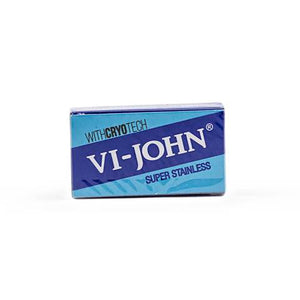 100 Vi-John Super Stainless DE Blades, 10 Packs Of 10