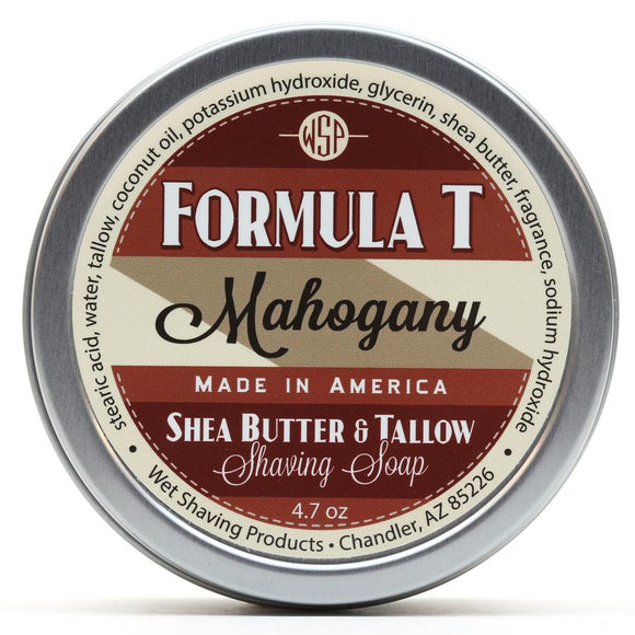 Wet Shaving Products FORMULA T Shaving Soap - Mahogany -