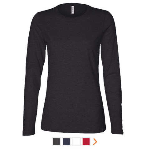 Customizable Bella & Canvas Ladies Long Sleeve T-Shirt